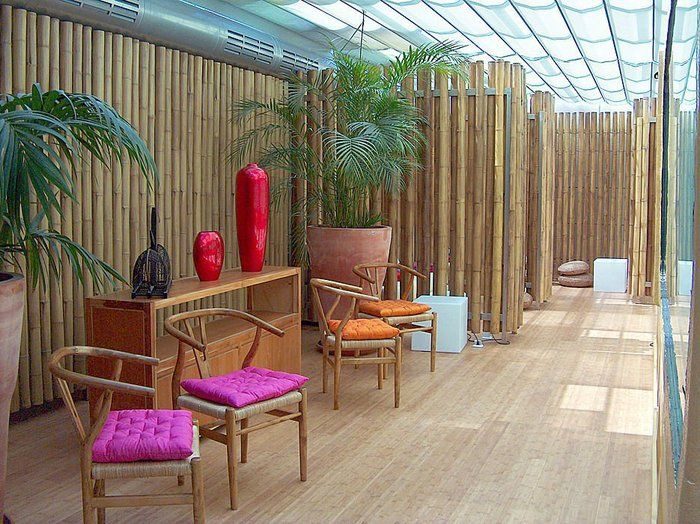 Decoration Design Ideas Patio Plants With Decoration Original Bamboo Wall Panels Cool Bamboo