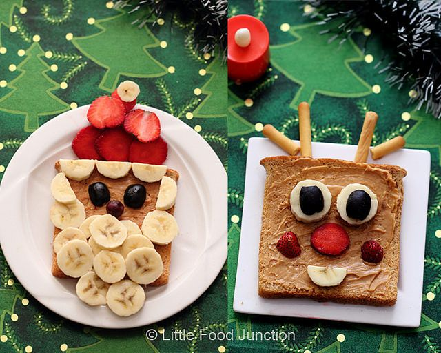 Xmas breakfast - Santa and rudolph: