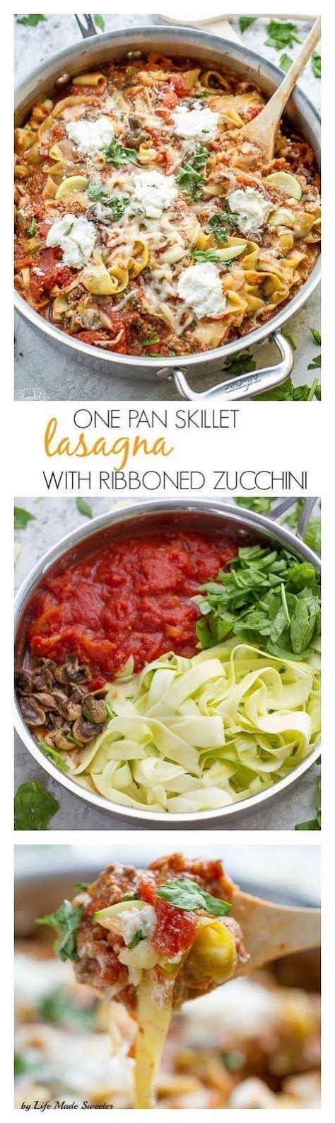 One Pan Lasagna Zoodles - low carb