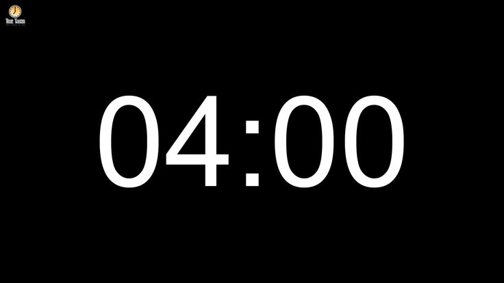 4 minute Countdown timer (with alarm)