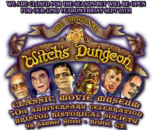 The Witch's Dungeon Classic Movie Museum in Bristol, Connecticut is a collection of figures of classic movie monsters. The museum is owned by Bristol-native Cortlandt Hull. Cortlandt is the great nephew of film actor Henry Hull. Wikipedia