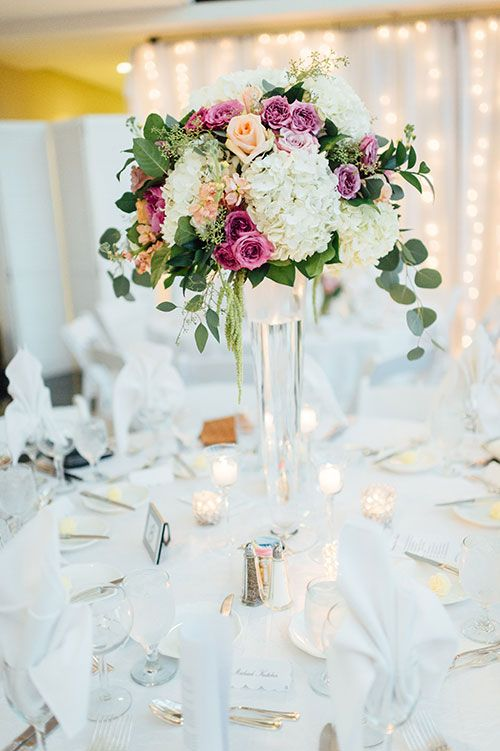 Black Tie Dallas Wedding With Lots Of Color Tall Centerpieces Hydrangeas And Roses
