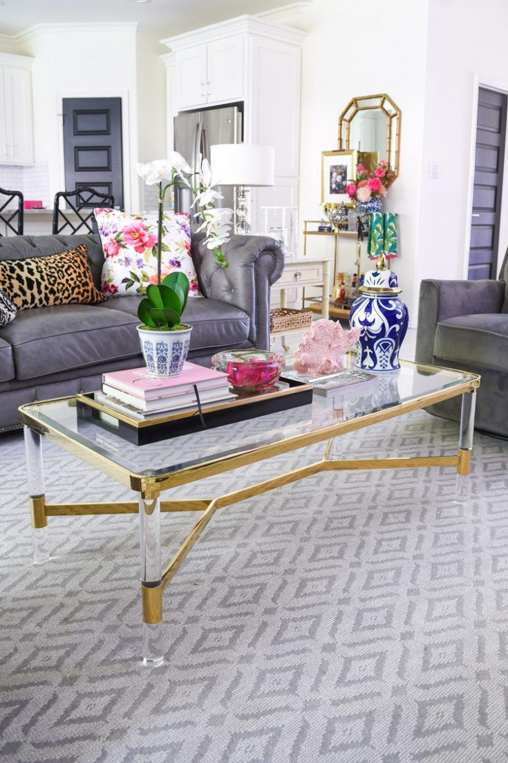 5 Chic Glam Coffee Table Decor Ideas Monica Wants It Glam Coffee Table Glass Coffee Table Decor Coffee Table [ 1103 x 735 Pixel ]