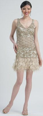 Suw Wong Flapper dress with feathers and sequins- MOST Popular dress