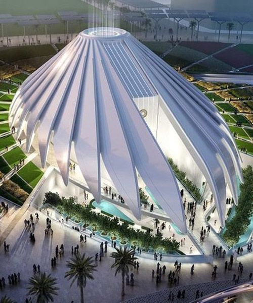 santiago calatrava's UAE pavilion for dubai expo 2020 breaks ground
