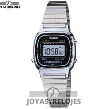 ⬆️😍✅ Casio LA670W ✅😍⬆️ Increíble Modelo de la Colección de Relojes Casio PRECIO 24.99 € En exclusiva en 😍 https://www.joyasyrelojesonline.es/producto/casio-la670w-reloj-de-senora-metalico-negro-plata/ 😍 ¡¡Edición limitada!!