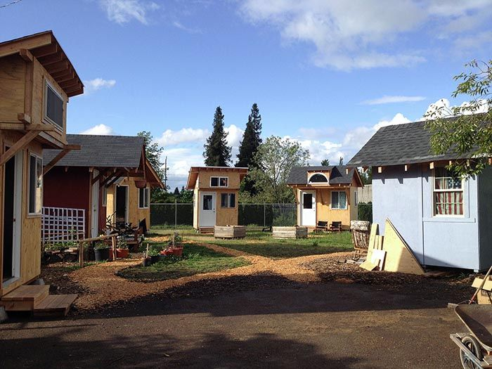 Tiny House Village for the Homeless Goes Off Grid With Solar Power