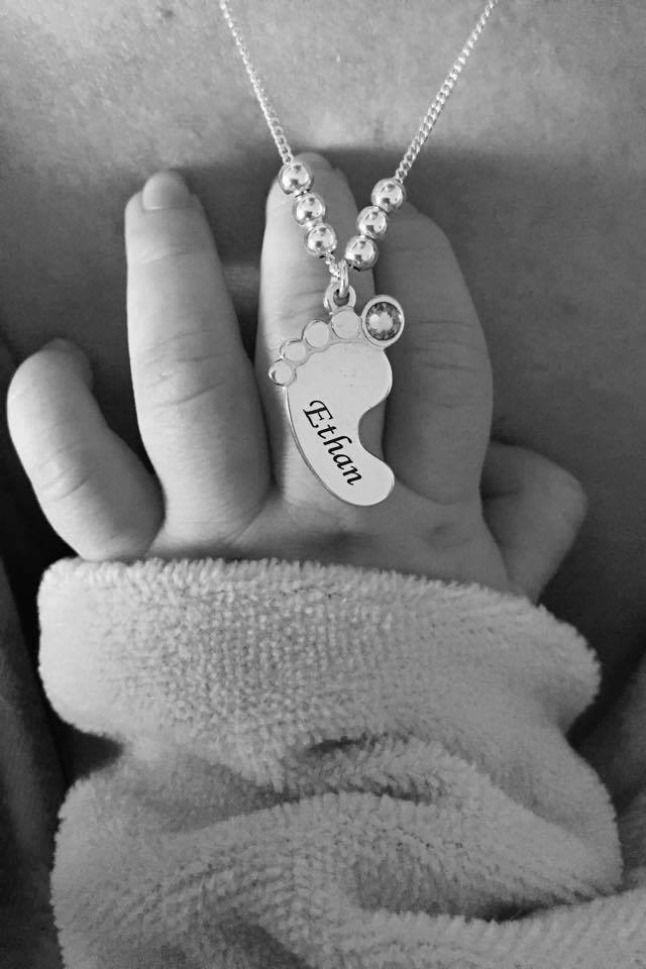 Ongekend Babyvoeten Hanger Mama Ketting met Geboortesteen in 925 Zilver in PC-31