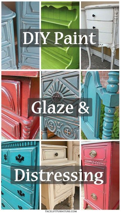 Do it yourself paint, glaze & distressing. How you can give your furniture a whole new life!