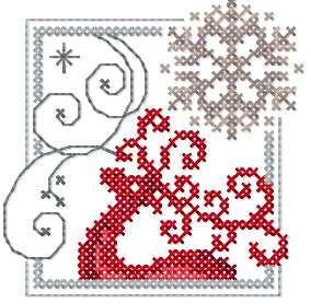 Christmas deer cross stitch free embroidery design - Cross stitch machine…