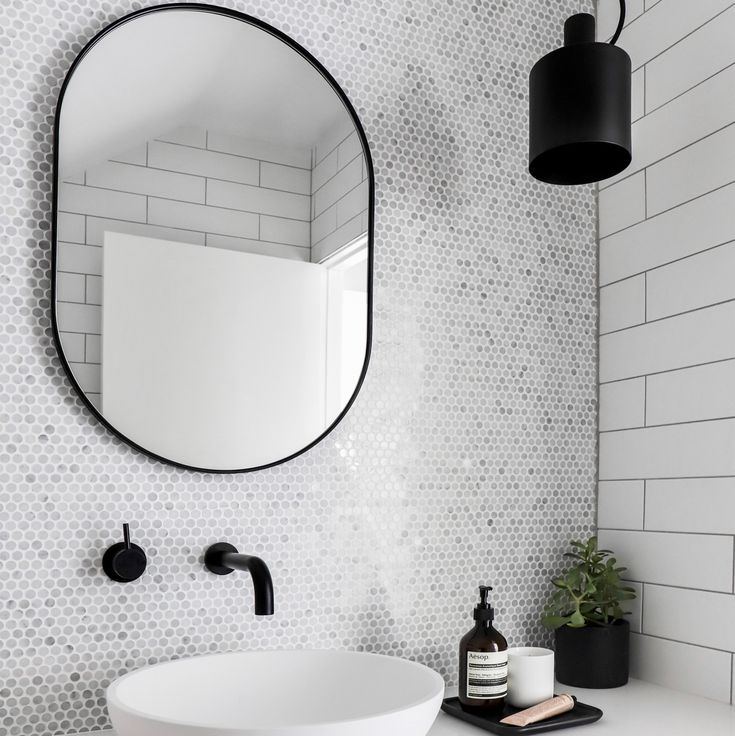 Mirror for Laundry - Bjorn mirror in black by Middle of Nowhere