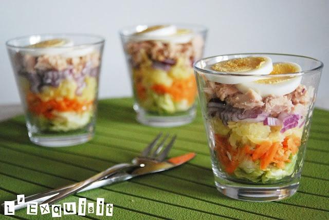 Ensalada en un vidrio de L'exquisita ensalada #  # LExquisit