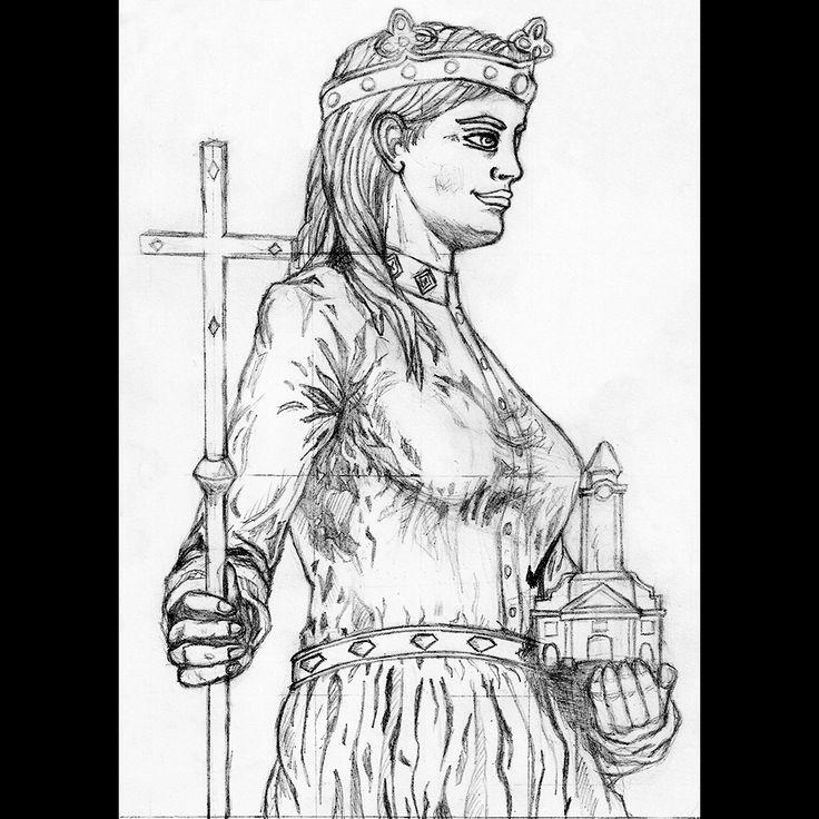 Queen Gisela | pen drawing | 2015 on Behance