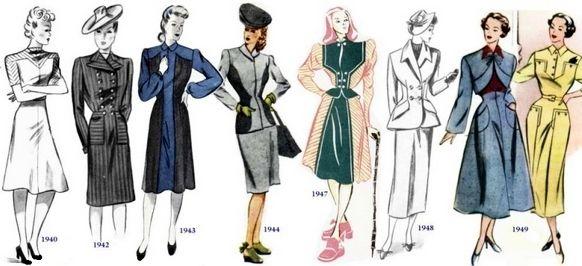 Moda lat 40. - 50-tych ubiegłego wieku