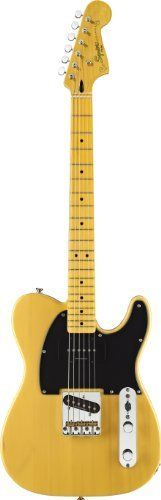 Fender 301250550 Squier VM Telecaster SPCL Electric Guitar, Butterscotch Blonde by Fender. $299.99. Squier's all-new Vintage Modified Telecaster Special puts a special spin on the model with truly modded and hot-rodded features including a full-sounding Jazzmaster neck pickup and a vintage-tint maple Jazzmaster neck. Features include a basswood body, maple fingerboard with 21 medium jumbo frets and black dot inlays, Duncan Designed TE-101B single-coil bridge pickup and Du...