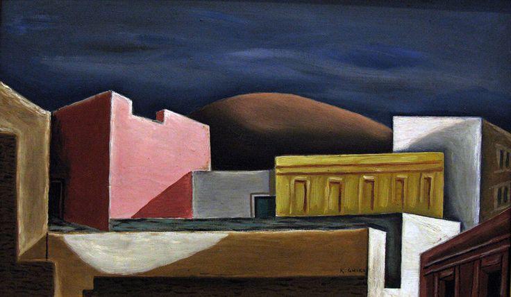 Σπίτια της Αθήνας (1927 - 1928). Δωρεά του Νίκου Χατζηκυριάκου-Γκίκα στην Εθνική Πινακοθήκη. Βλ. Tilemahos Efthimiadis. Πηγή: www.lifo.grΑφιέρωμα στο Νίκο Χατζηκυριάκο-Γκίκα. | ΣΑΝ ΣΗΜΕΡΑ | PLUS | Θέματα | LiFO