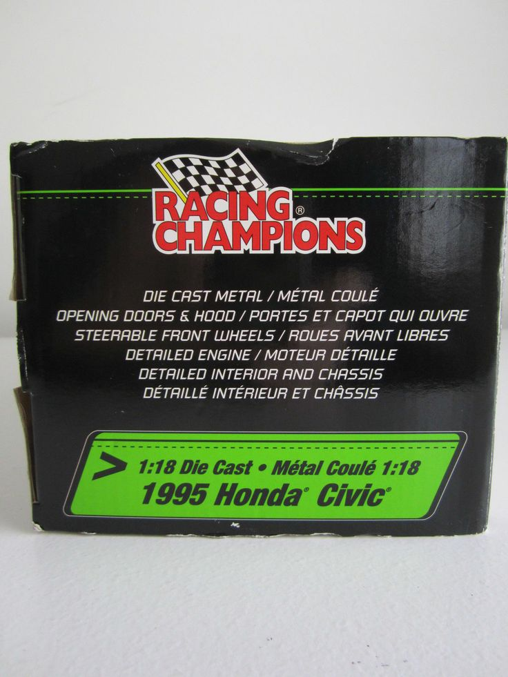 Fast And The Furious 1995 Honda Civic 1/18 Scale Ertl Racing Champions 036881369738 | eBay