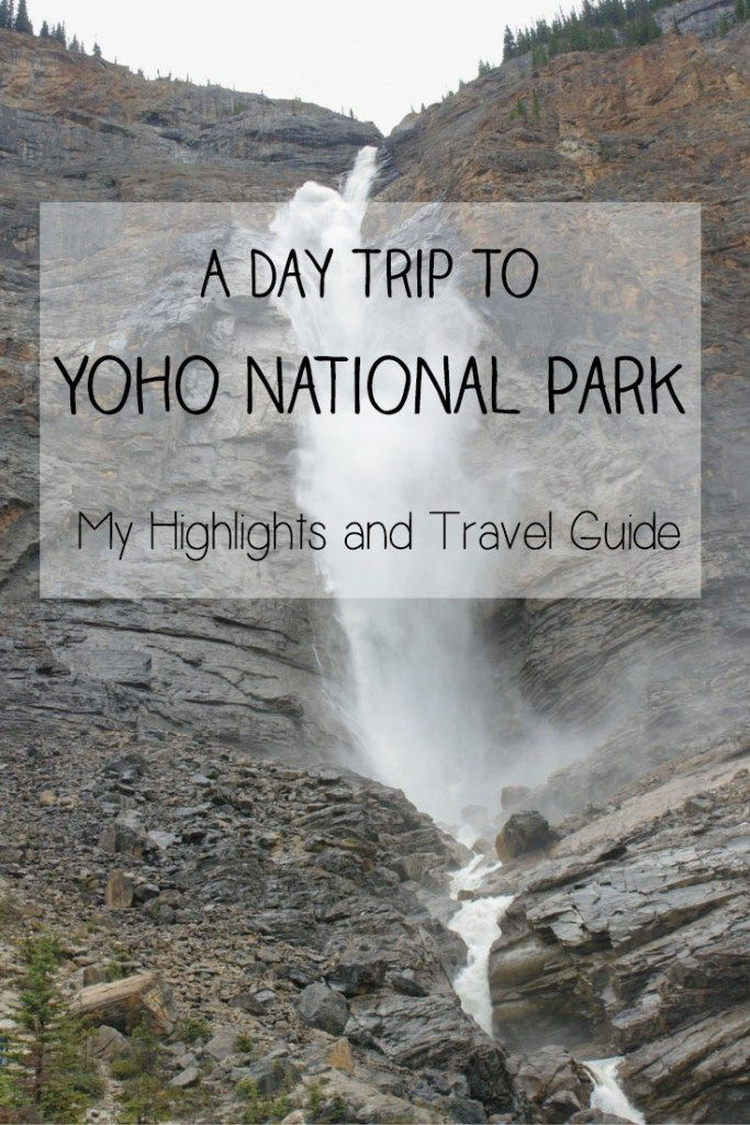 A Day Trip to Yoho National Park in British Columbia, Canada: My Highlights and Travel Guide | Yoho National Park is a gorgeous park in British Columbia, Canada featuring incredible natural landscapes and scenery including Emerald Lake, Takakkaw Falls, the Natural Bridge and other highlights. It is a hidden gem of a place that makes a perfect and convenient day trip from Banff National Park. Check out my travel guide for what to see and do, where to eat and where to stay.
