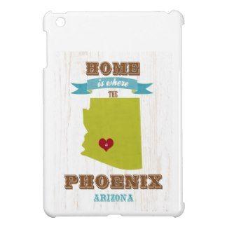 Phoenix, Arizona Map – Home Is Where The Heart Is iPad Mini Cover