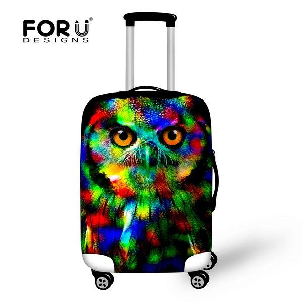 2016 New Design Cat Travel Accessories Men's Luggage Suitcase Set Animals Travel Cover To Case For 22''-26''inch Luggage Cover