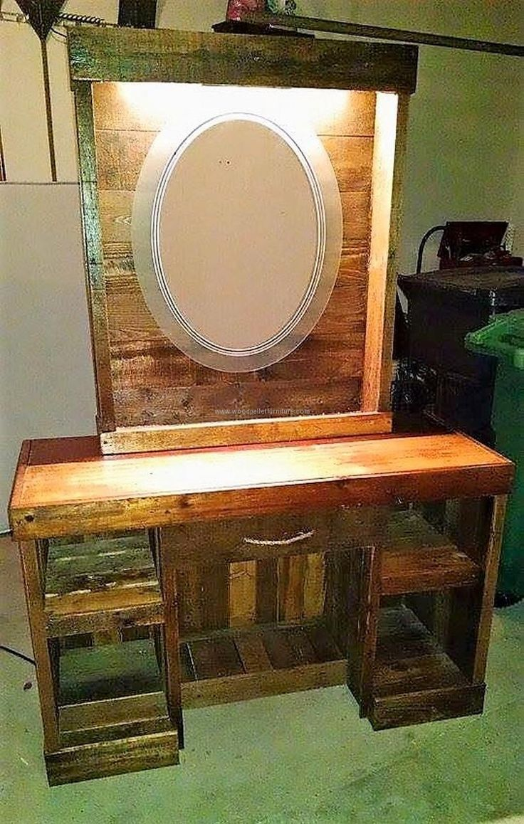 best 25+ pallet vanity ideas on pinterest | diy makeup vanity