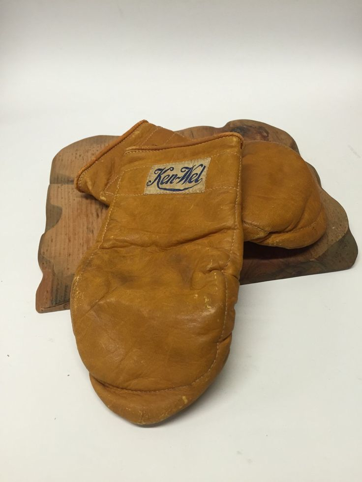 A personal favorite from my Etsy shop https://www.etsy.com/listing/233356236/vintage-ken-wel-boxing-sparring-gloves