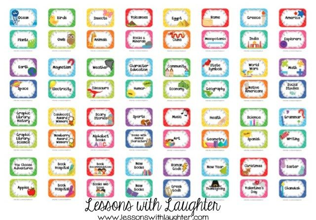 Classroom Library Labels & Chalkboard Theme!