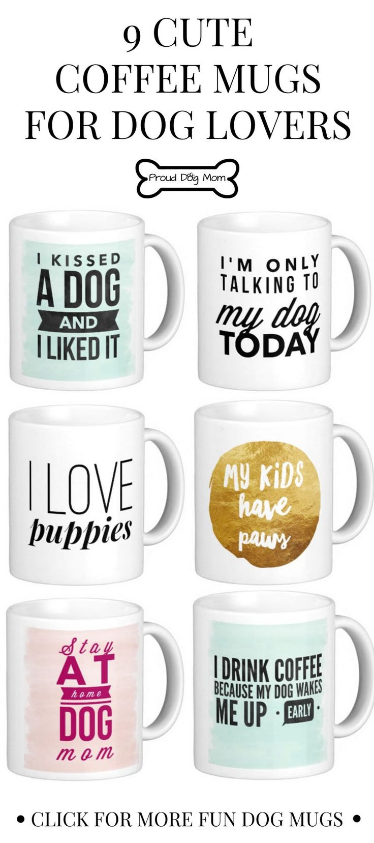 9 Cute Coffee Mugs For Dog Lovers | Gifts For Dog Lovers |
