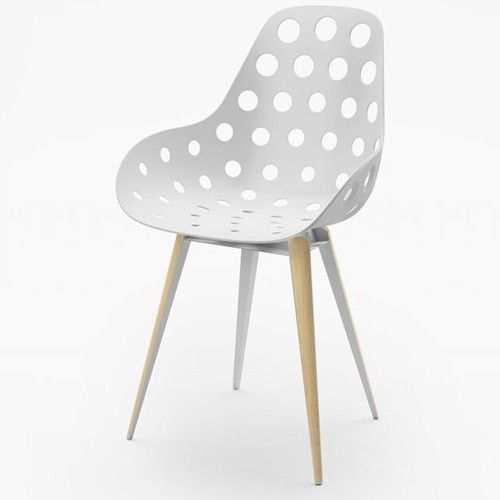 chaise slice dimple holes kubikoff blanc