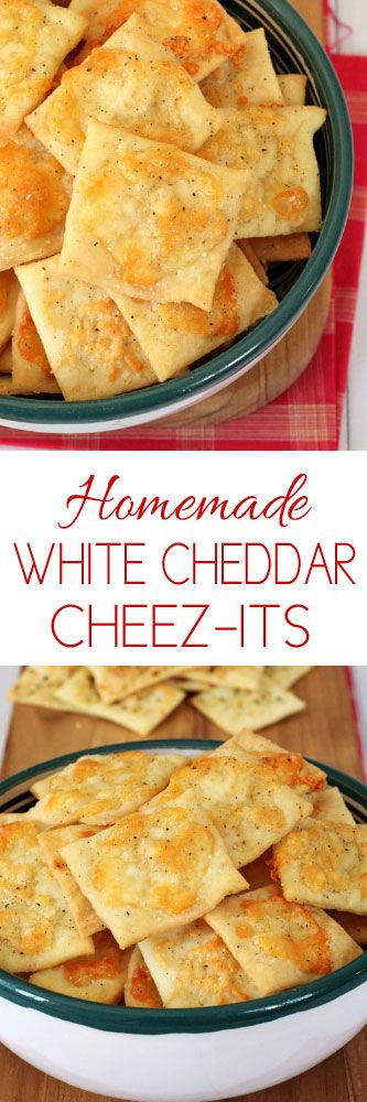 Homemade White Cheddar Cheez-its #snacks #recipes #kidssnacks #kidsfood #crackers #appetizers