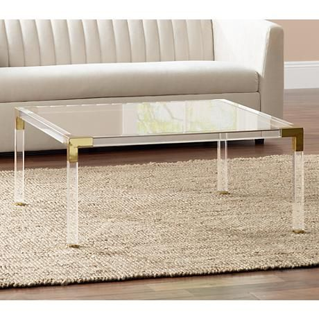 Erica Square Clear Acrylic Coffee Table with Gold Corners - 25+ Best Ideas About Acrylic Coffee Tables On Pinterest Grey