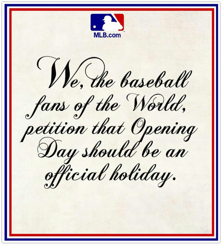 Image result for mlb opening day should be holiday