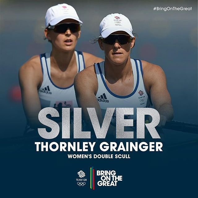 #SILVER OLYMPIC MEDALISTS! Vicky Thornely & Katherine Grainger…
