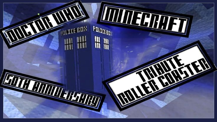 Minecraft Roller Coaster - Doctor Who 50th Anniversary Tribute