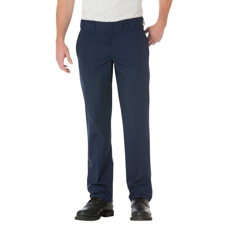 Dickies Big & Tall Slim Straight Fit Lightweight Poplin Pant- Dark Navy 44x30