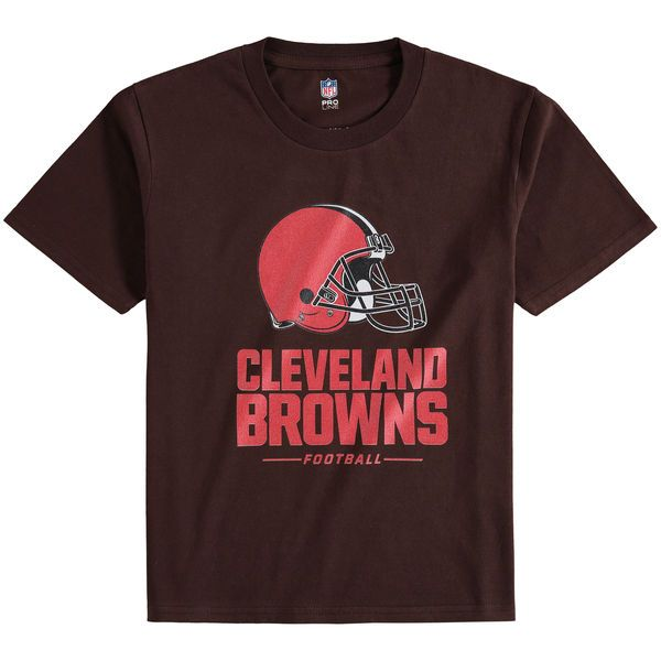 Cleveland Browns NFL Pro Line Youth Team Lockup T-Shirt - Brown - $19.99