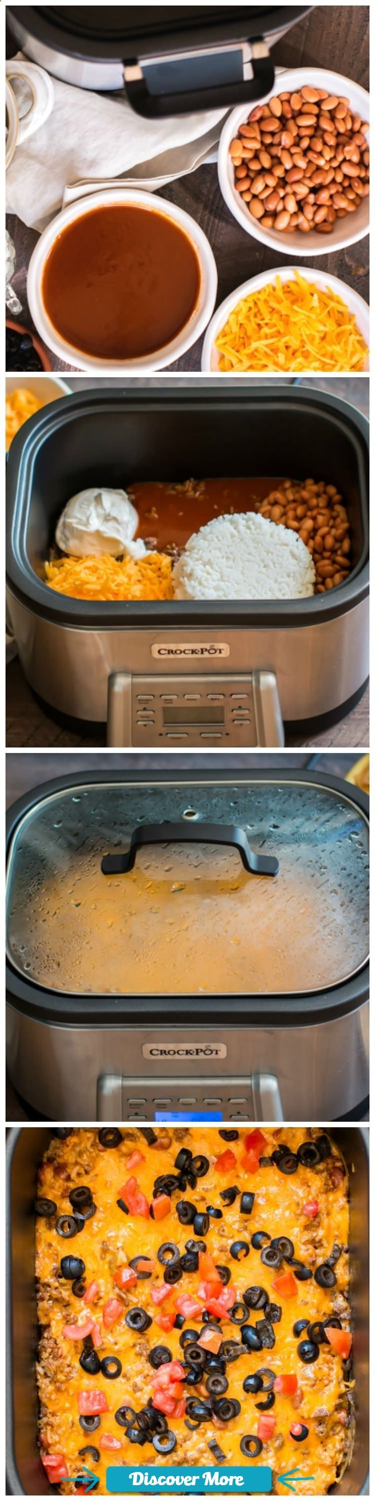 Slow Cooker Beef and Rice Enchilada Dip! Pefect for gameday! #sponsored #CrockPotRecipes #slowcooker #slowcook #slowcookerrecipes #slowcookerchicken