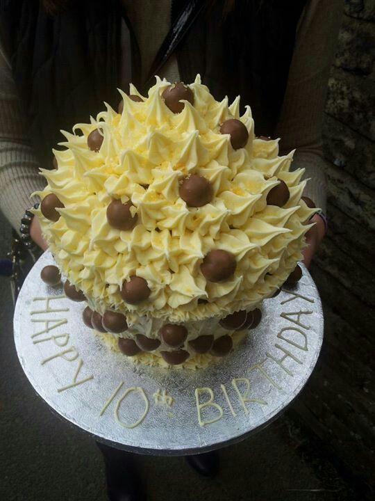 10th birthday giant cupcake