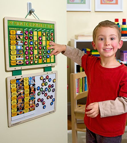 Wooden Magnetic Responsibility Chart