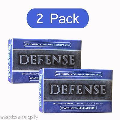Defense Soap Bar 2 Pack Antibacterial Antifungal Tea Tree Oil 4 Oz
