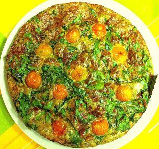 MASTER MÚSCULOS... Omelete al Forno de Espinafres, frango e nozes