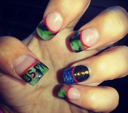 Best 25 usmc nails ideas on pinterest marine nails marines usmc nails prinsesfo Gallery