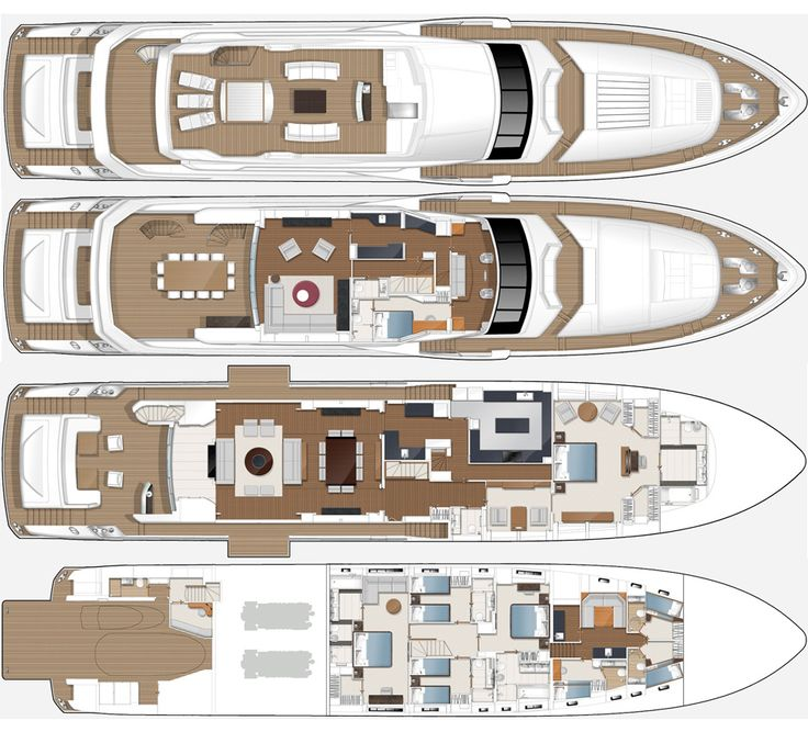 Princess 40m m class yacht yachts layout plan adriatic for 40m apartment design