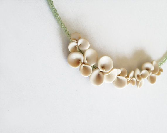 minimal organic abstracted botanical necklace nO.220 by eried