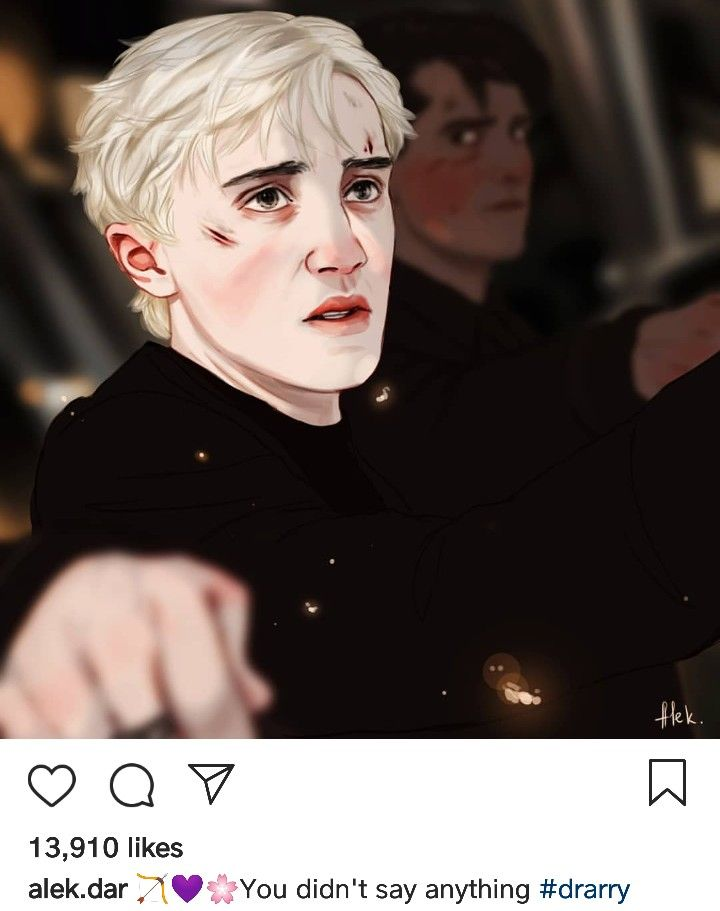 You Didn T Say Anything Part 3 3 Drarry Harrypotter Dracomalfoy Potterart By Alek Dar Ig Drarry Fanart Drarry Harry Draco