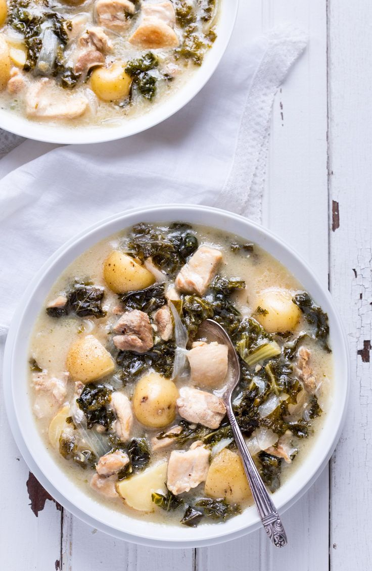 Dijon Chicken Stew with Kale and Potatoes - So simple to make and with ingredients you can find anywhere! gluten free & paleo