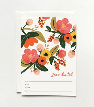 Sweet flowers Rifle Garden Party Invitations