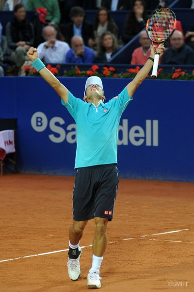 Kei Nishikori defended the title at Barcelona.