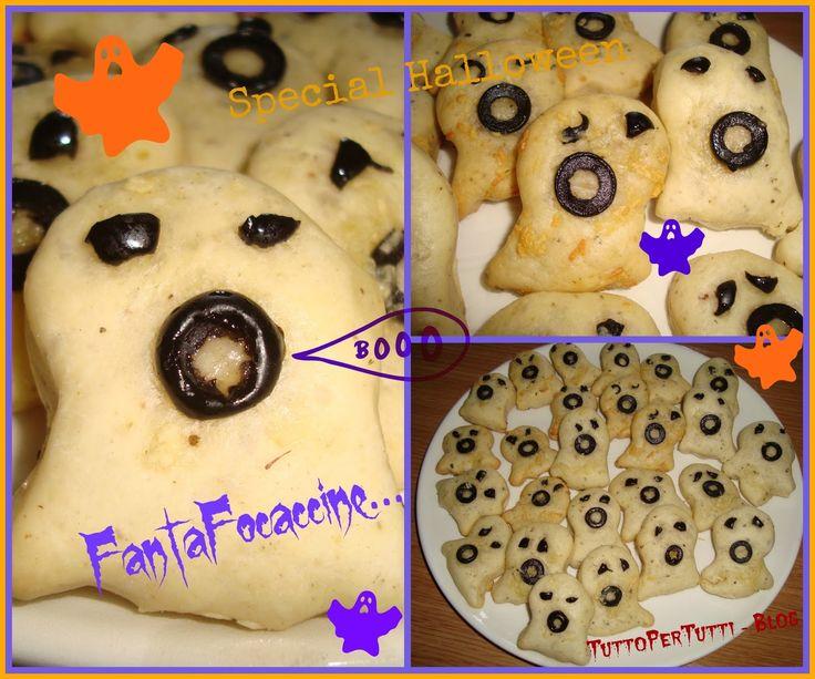 Tutto Per Tutti: FANTA-FOCACCINE - speciale Halloween. Le fanta-focaccine fantasma-goriche!!