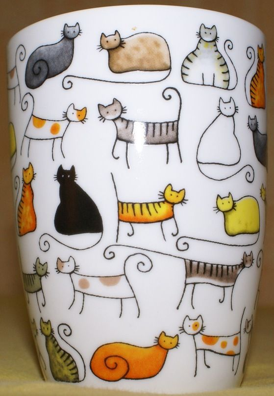 Cats on a Coffee Cup ~ How Cool is That?!